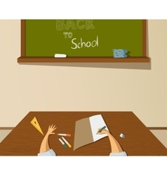 Back to school drawing vector image