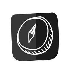 Compass draw doodle vector
