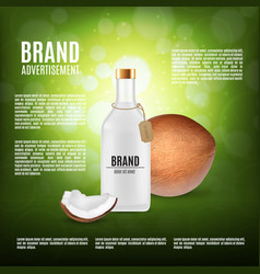 cosmetic bottle with coconut oil vector image