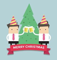 Merry Chirstmas businessmen vector image