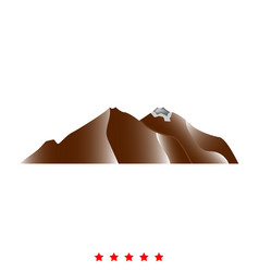 mountain icon different color vector image