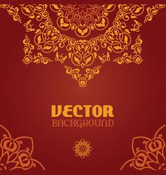 ornamental arabesque lace background vector image
