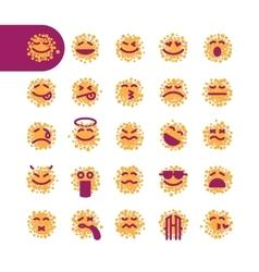 Set of spotty emoji emoticons vector image vector image