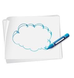 Speech Bubble Sketch vector image vector image