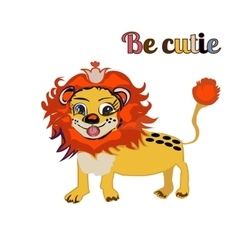 bE CUTIE lion FOR PRINT kid s book vector image vector image