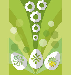 easter spring decoration with paper cut egg and vector image vector image