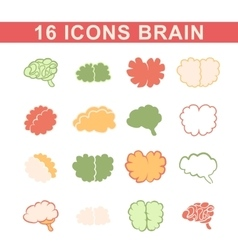 outlines of the brain vector image