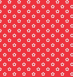red background white flowers seamless pattern vector image vector image
