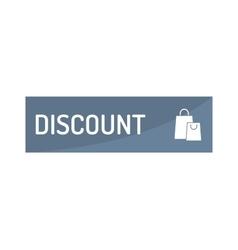 Shopping button icon vector image vector image