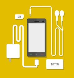 Smart phone set vector image vector image