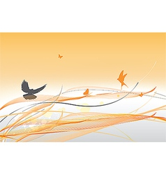 abstract colorful background with butterfly vector image vector image