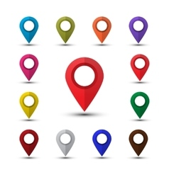 Colorful map pointers vector image