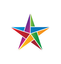 colorful star image vector image