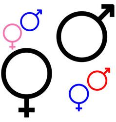 symbol of gender symbol mars and venus vector image vector image