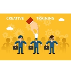 Creative training vector image vector image