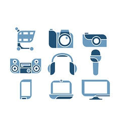 Electronics icons set vector
