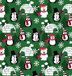 winter fun seamless background vector image vector image