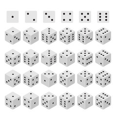 3d dice combinations set isometric view vector image