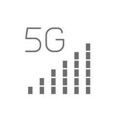 5g internet signal bar grey icon vector image
