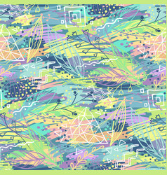 Abstract doodle pattern vector