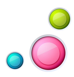 abstract web buttons set vector image