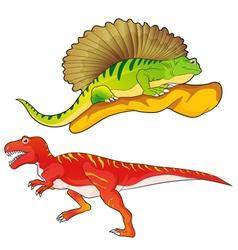 Allosaurus edaphosaurus vector
