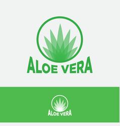 Aloe vera logo transparent leaves circle vector