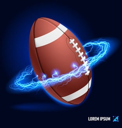American football high voltage vector image