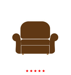 armchair it is icon vector image