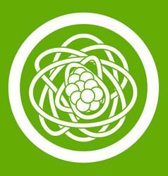 Asian noodles icon green vector