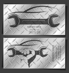 Auto repair and service business card vector
