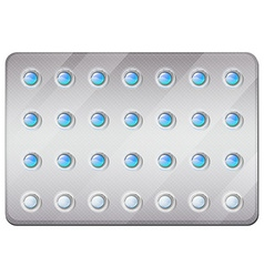 Birth control pills in pack vector