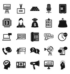 blood money icons set simple style vector image