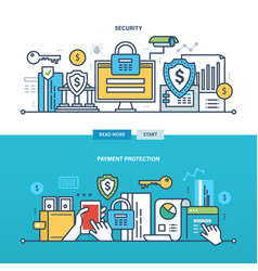 business and technology protection monitoring vector image