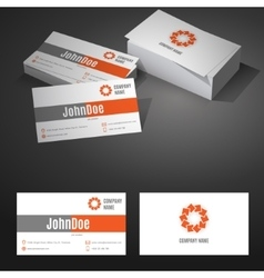Business card background design template vector