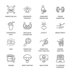 business concepts icons vector image