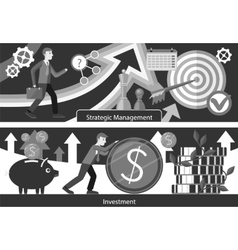Business Consulting Investment Strategic Managment vector image