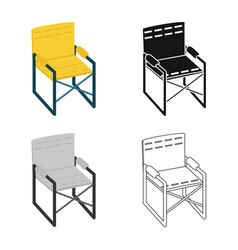 Chair and folding icon set vector