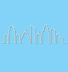 city skyline in minimalist style vector image