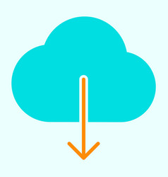 cloud download icon simple minimal pictogram vector image