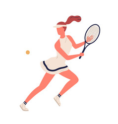 colorful sportswoman big tennis player demonstrate vector image
