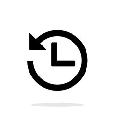 Countdown icon on white background vector image