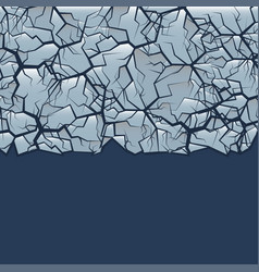 cracked ice background vector image