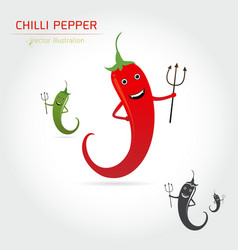 cute cartoon hot chili pepper vector image vector image