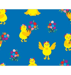 Cute Chick Pattern vector image