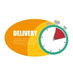 delivery service time design icon vector image
