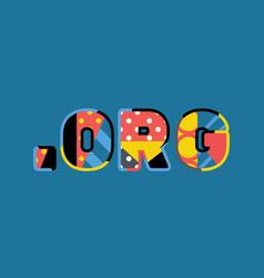 dot org concept word art vector image