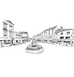 Epernay france hand drawn sketch vector