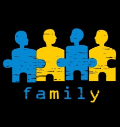 family idea vector image