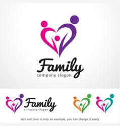 Family love logo template design vector